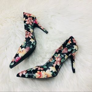 Nine West Floral Pointed Toe Pumps